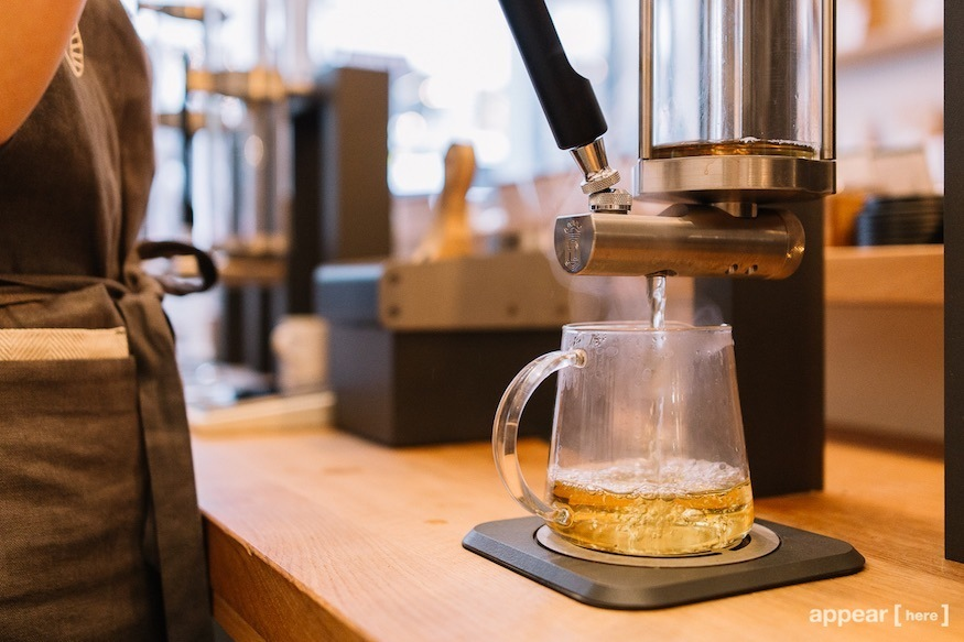 Brewing and drinking tea at Good & Proper, one of the best places to drink tea in London