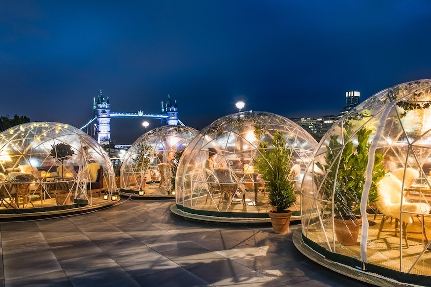 Enjoy festive cocktails in an igloo on the Thames