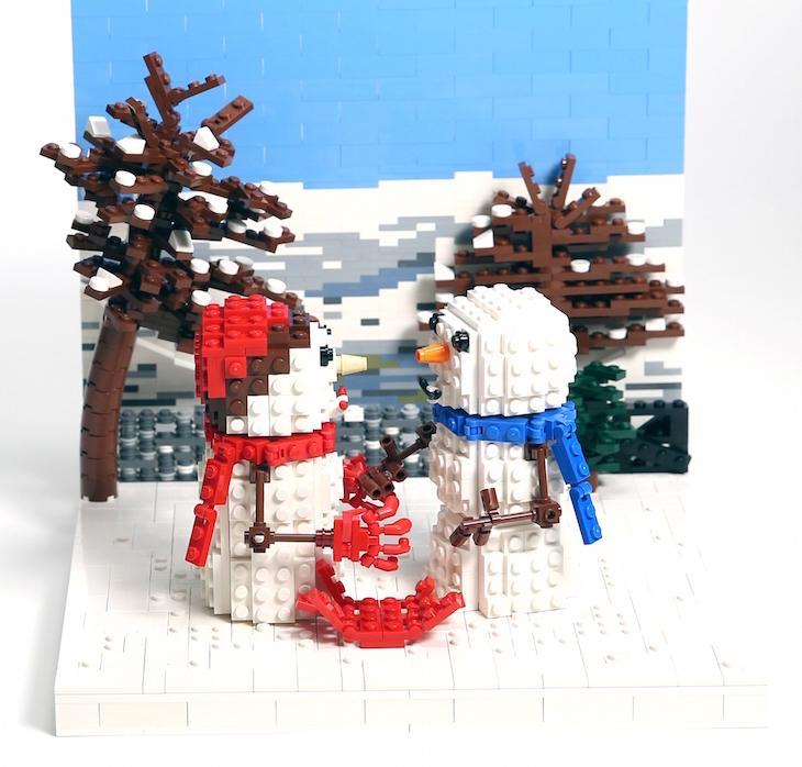 John Lewis Recreates Christmas Adverts Using 10,000 Lego Bricks