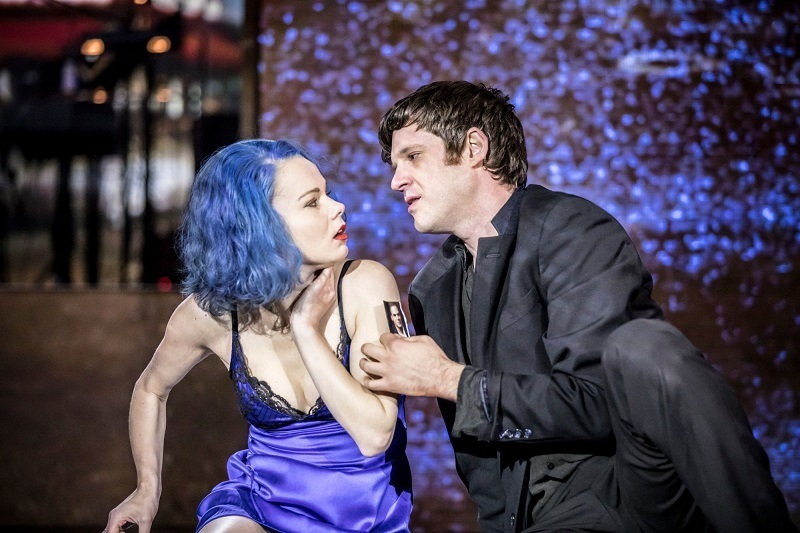 Ramsay Bolton, sorry, Valentine (Michael Esper) with Elly (Amy Lennox). Image: Johan Persson