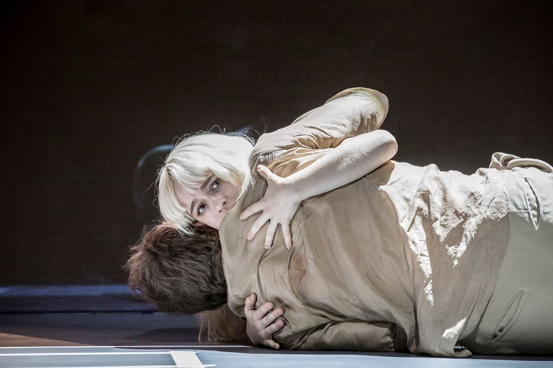 """I see baffled people."" Sophia Anne Caruso (Girl) with Michael C Hall (Newton). Image:Jan Versweyveld"