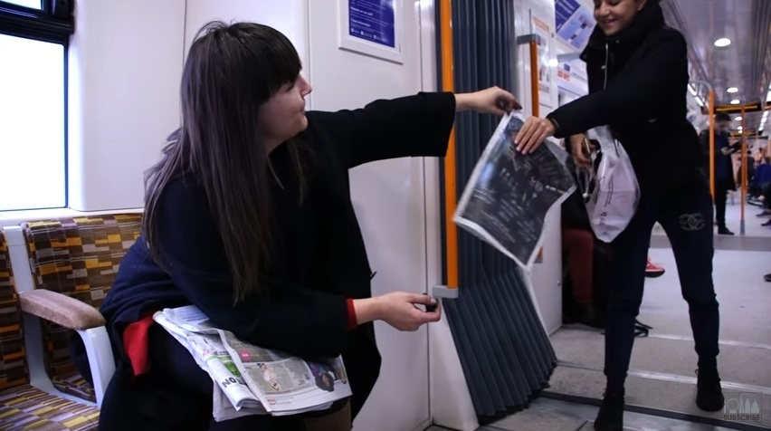 The Artist Who Turns The Train Into Her Studio