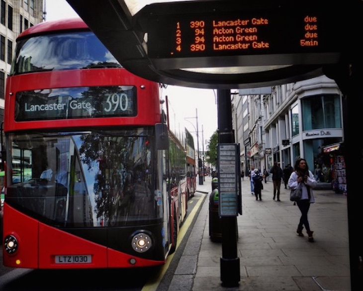Number Of Buses On Oxford Street May Be Cut By 40%