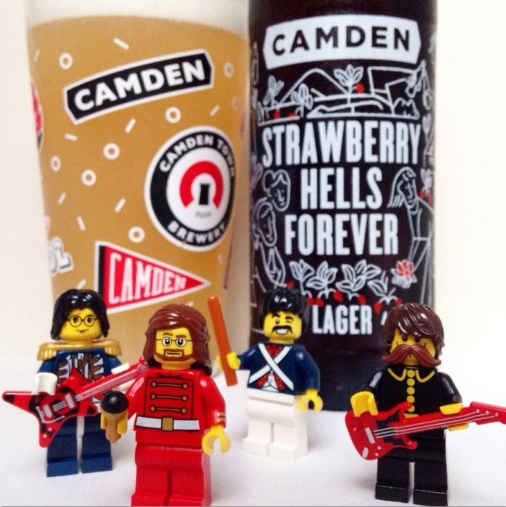 Lego Men Posing Next To London Beers