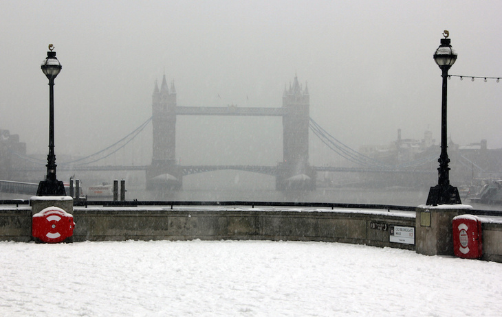 What's the coldest its ever been in London?