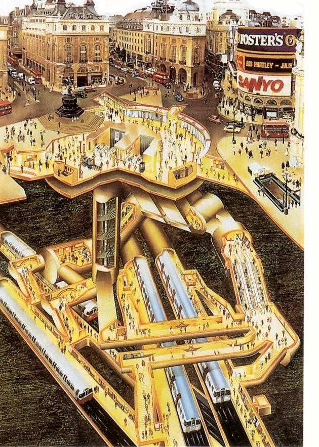 Tube tunnel cutaway drawings to make your jaw drop