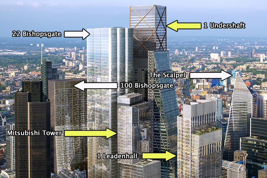 3 New Towers Growing On The City Skyline Londonist
