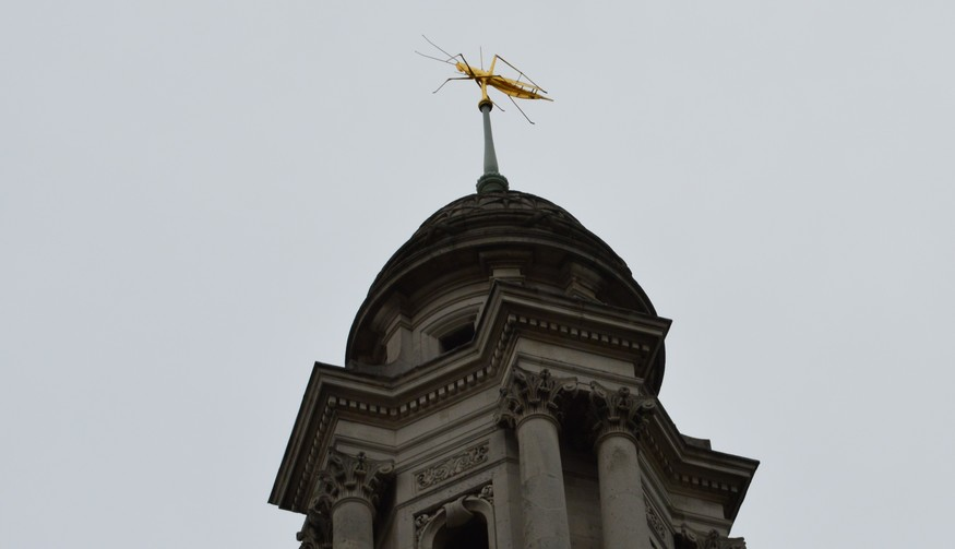 Why Is There A Giant Grasshopper On The Royal Exchange Londonist