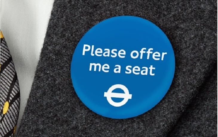 'Please Offer Me A Seat' Badges Will Be Permanent