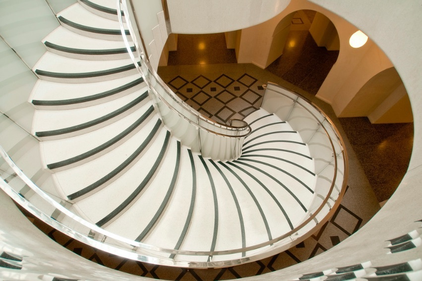 Spiral Staircase At The Tate Britain. Photo: Darrell Godliman