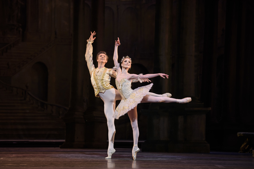 Vadim Muntagirov as Prince Florimund and Sarah Lamb as Princess Aurora. The Royal Ballet's The Sleeping Beauty joins several Nutcrackers to make this a Merry Tchaikovsky Christmas © Bill Cooper