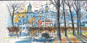 This Man Is Sketching Every Central London Park