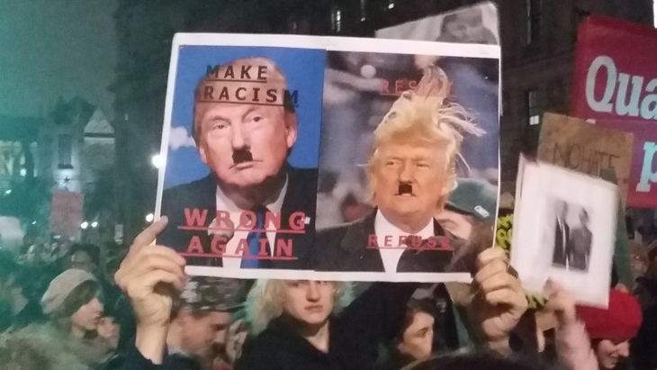 In Pictures: Anti-Trump Rallies In London