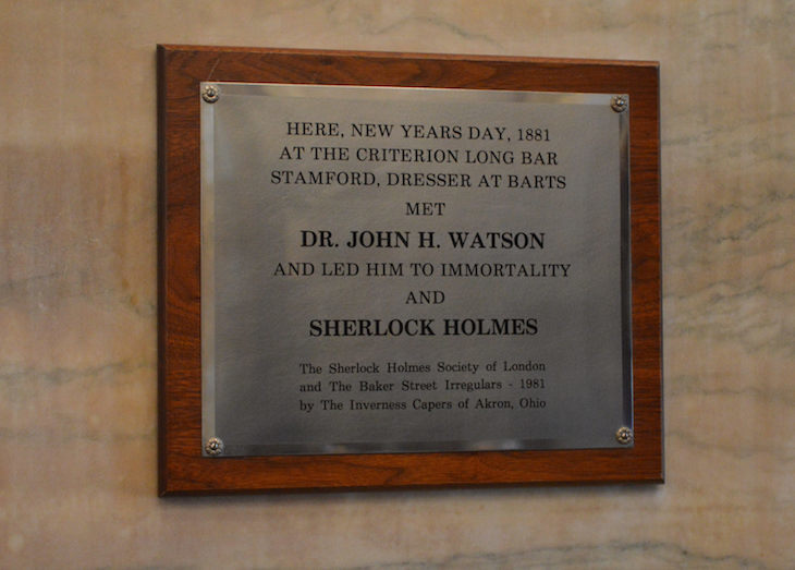 There's A Plaque Marking Holmes And Watson's First Meeting