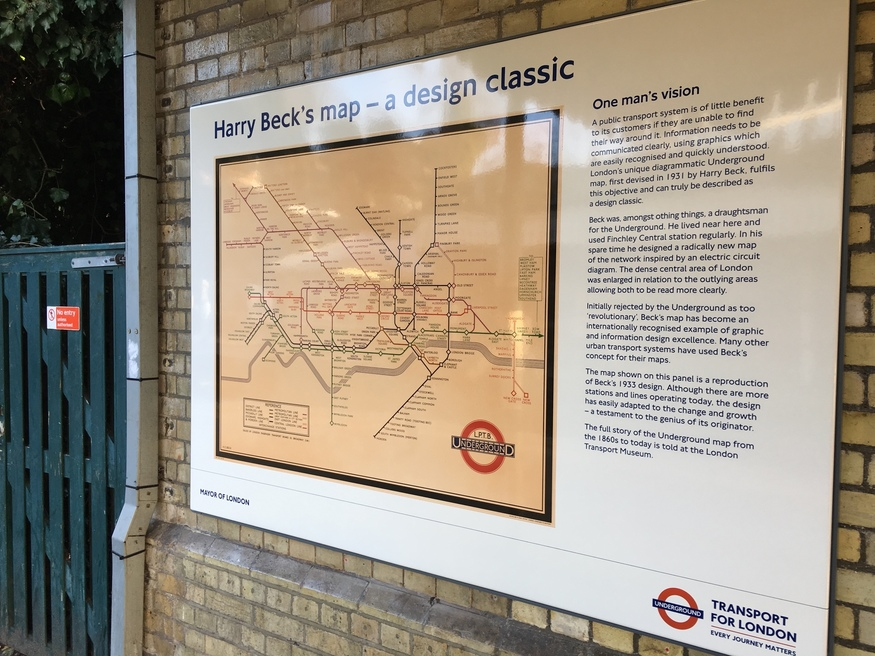 An Original 1930s Tube Map In A North London Station