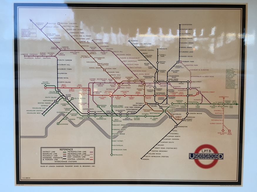 Seen The Harry Beck Tube Map In Finchley Central?