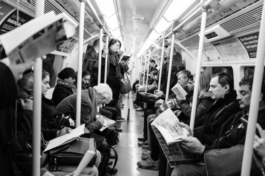 Awkward London moments: not noticing someone wants your seat on the tube