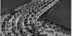Retro Infographic Shows Traffic Over London Bridge In 1911