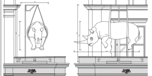 Why Is This Rhino Dangling Over Knightsbridge?