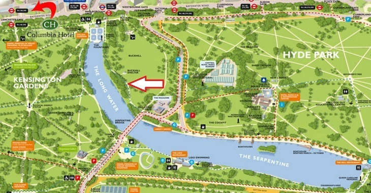 Kensington Gardens Map Kensington Gardens Has Parakeets That Will Land On Your Hand