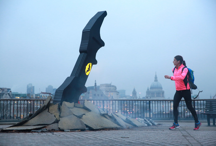 Lego Batarang Crashes Onto South Bank