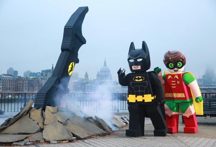 Lego Batarang Crashes Onto South Bank