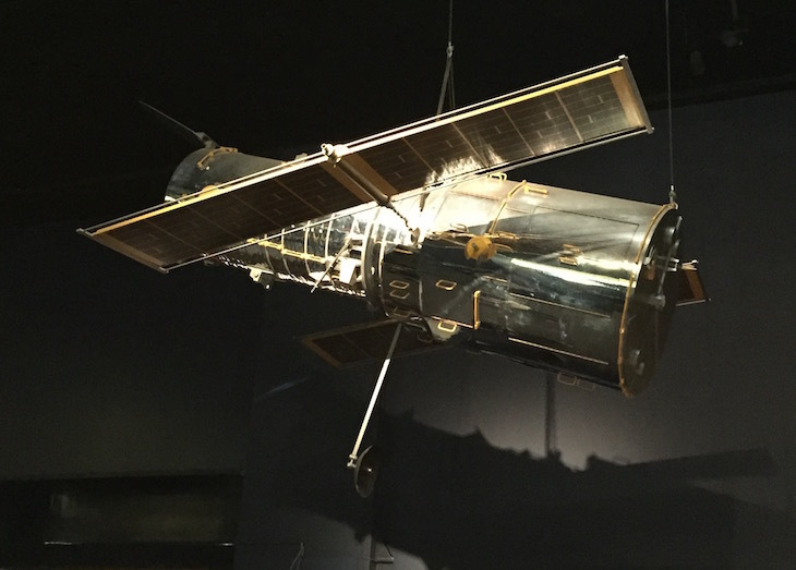 See the Hubble Space telescope... on the tube.
