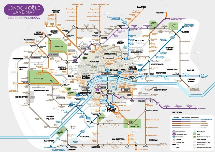 Cycle Superhighway Map A Tube Map For Cyclists | Londonist Cycle Superhighway Map