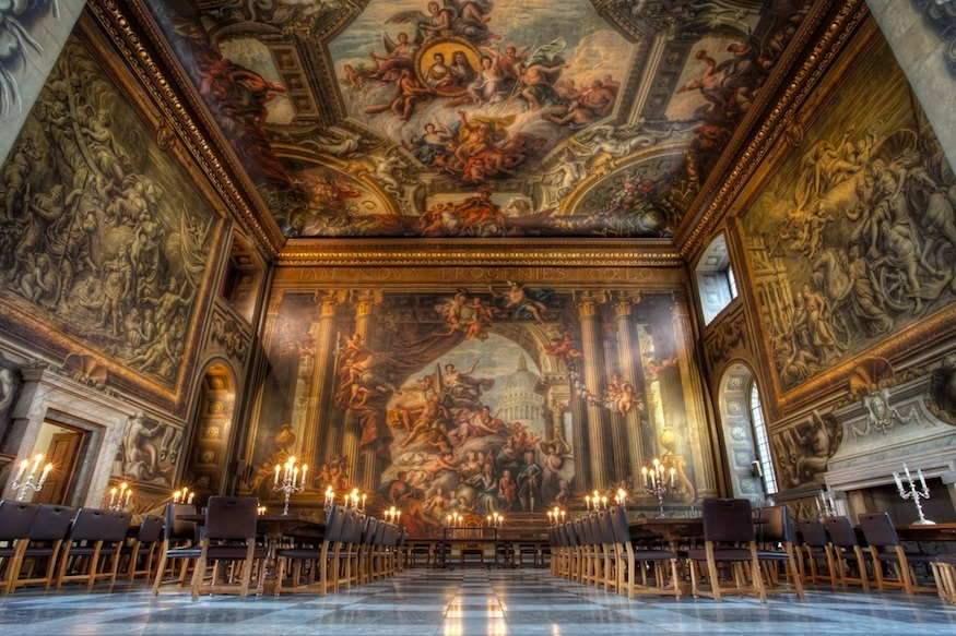 Most romantic London days out and date ideas: The Painted Hall in Greenwich