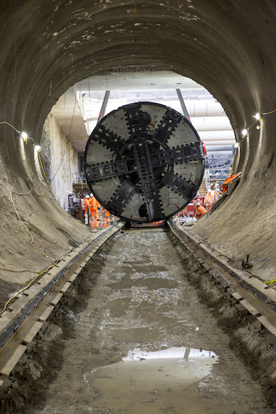 Photos Of Tunnel Boring Machines Being Lowered At Battersea