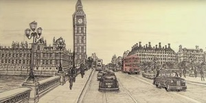 Watch An Artist Draw The Houses Of Parliament... Just By Glancing At It