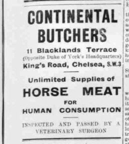 How London Acquired A Taste For Horse Meat