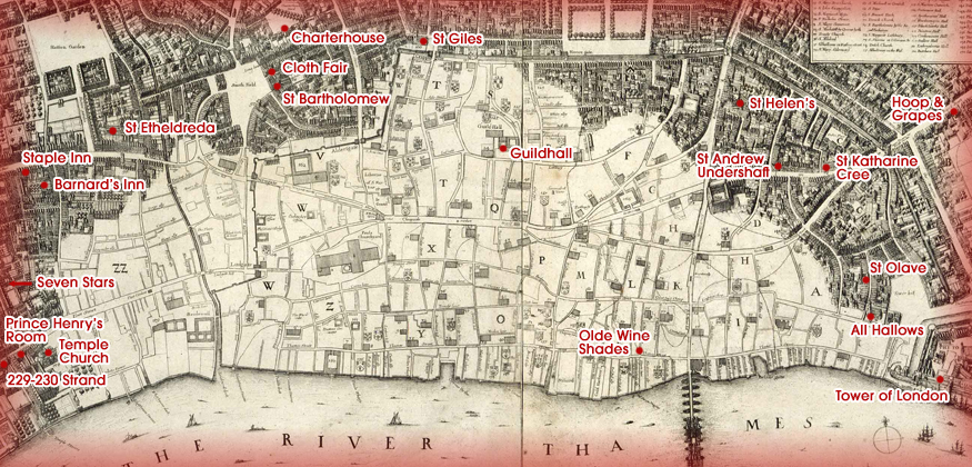 Great Fire Of London Map.Buildings That Survived The Great Fire Of London Londonist