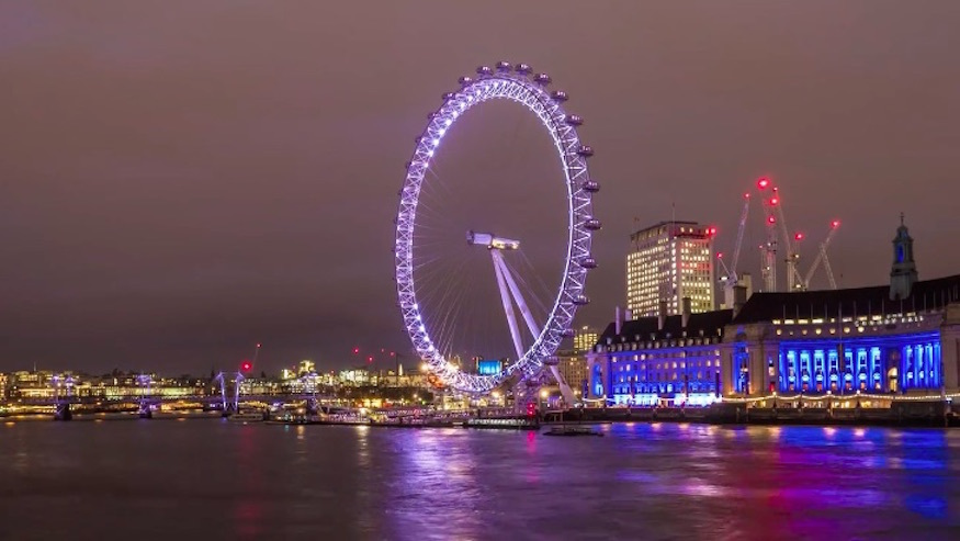 Fall in love with London all over again with this video of the city at night