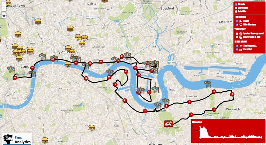 Mapped: Pubs, Toilets And Carbs Along The London Marathon Route