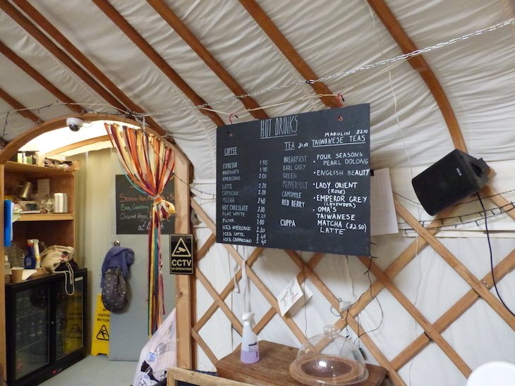 Did you know about this London café that's inside a yurt?