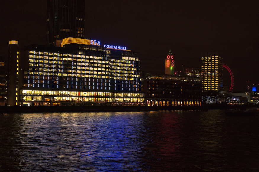 This Is What The Light Display On The Sea Containers Building Is For