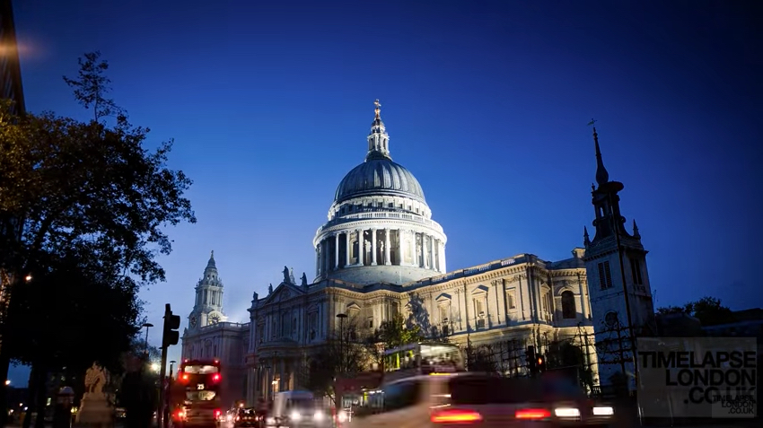 Watch this gorgeous timelapse video of St Paul's Cathedral