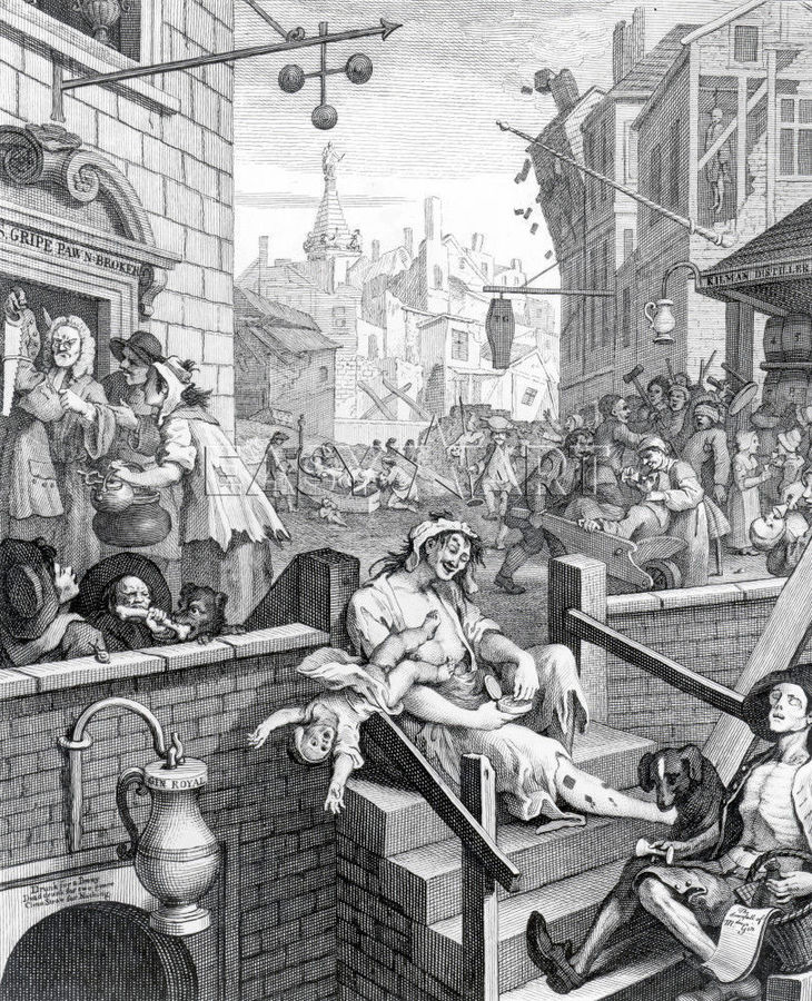 william hogarths beer street and gin lane essay The scenes of such excess are, if anything, less attractive even than those of  william hogarth's gin lane (1751), and are without the argument.