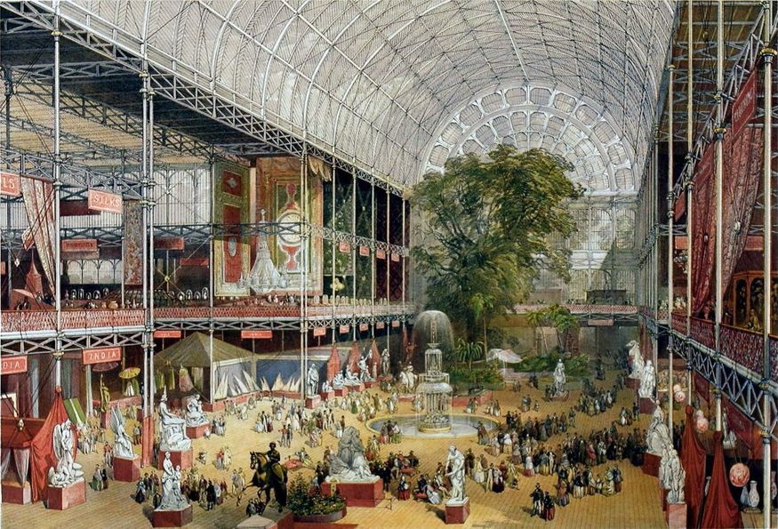 We may not have photos of the 1851 Great Exhibition, but we do have this