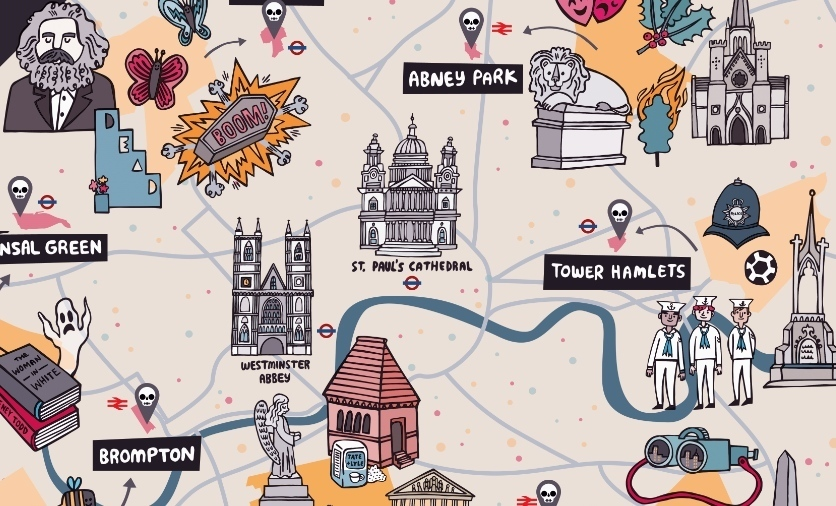 An Illustrated Map Of London's Magnificent Seven
