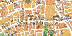 An Illustrated Map Of Brick Lane