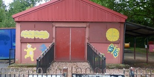 These Huts In Peckham Painted With Teletubbies Were Part Of A Prisoner Of War Camp