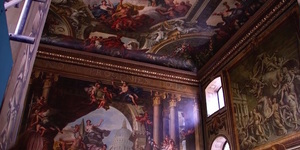 Video: Take A Scaffolding Tour Of Greenwich's Painted Ceiling