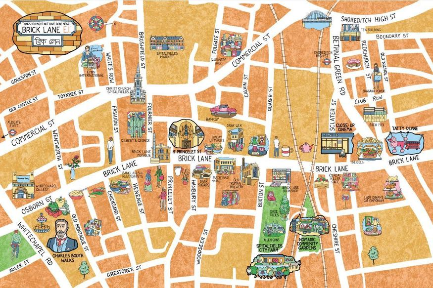 How Well Do You Really Know Brick Lane? Check Out This Awesome Map