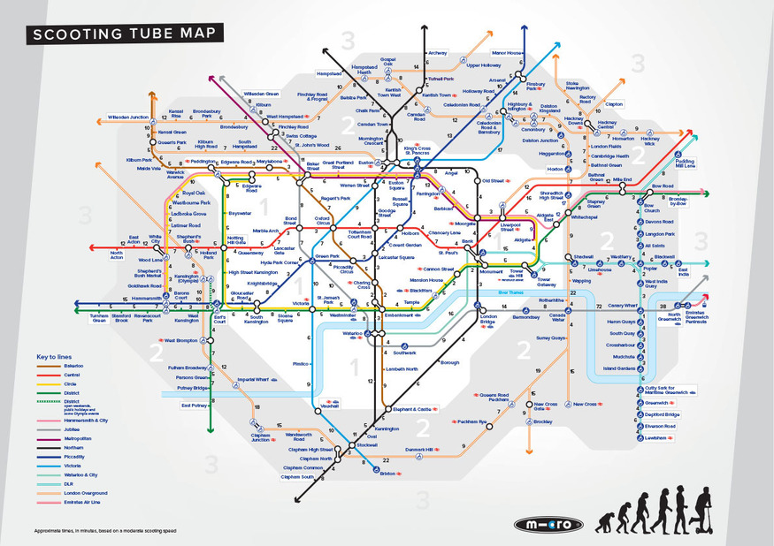A Scooting Tube Map Of London