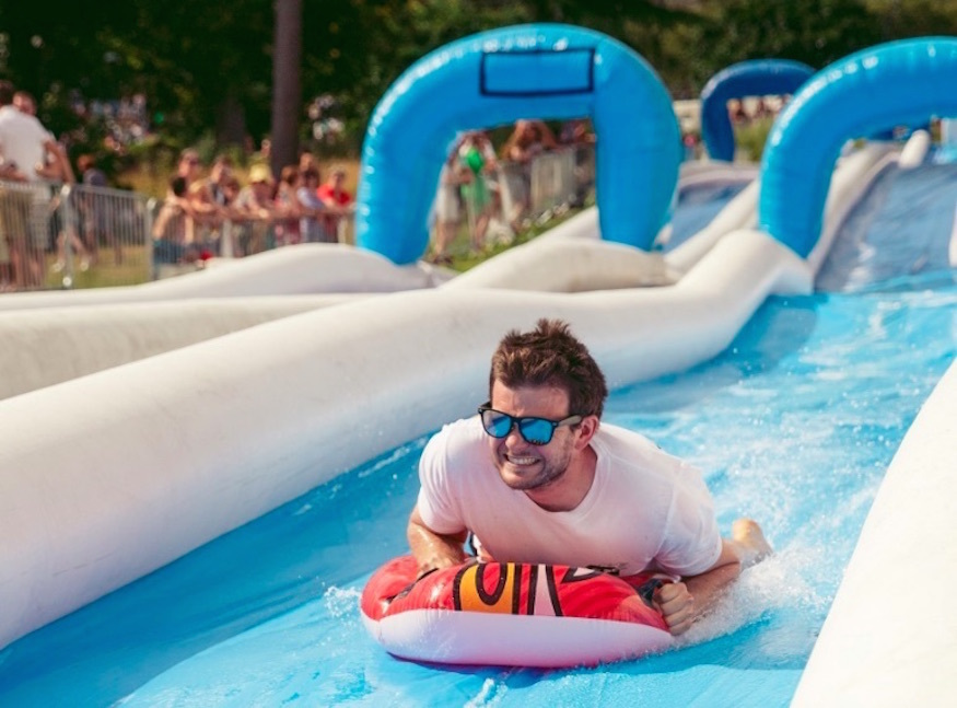 The Giant Waterslide Is Back At Alexandra Palace This Summer