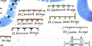 An Illustrated Map Of Bridges On The Thames
