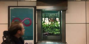 Tube Ticket Office Transforms Into Miniature Garden