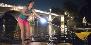 Kayak Through London At Night